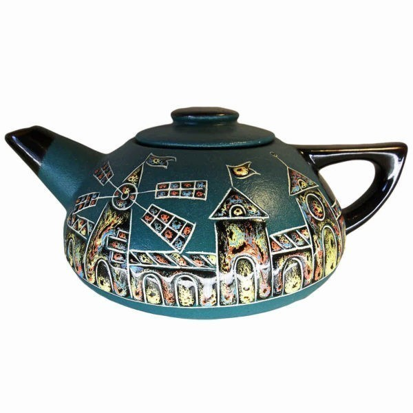 Чайник керамический заварной «Замок» широкий
