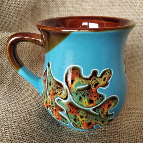 Чашка чайная керамическая «Совы» голубая