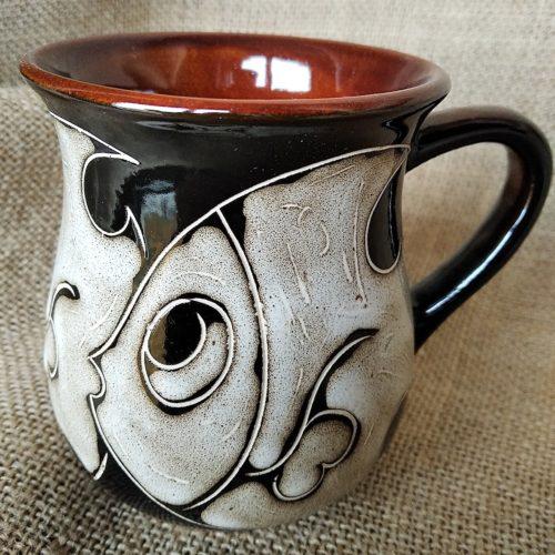 Чашка чайная керамическая «Рыбы»