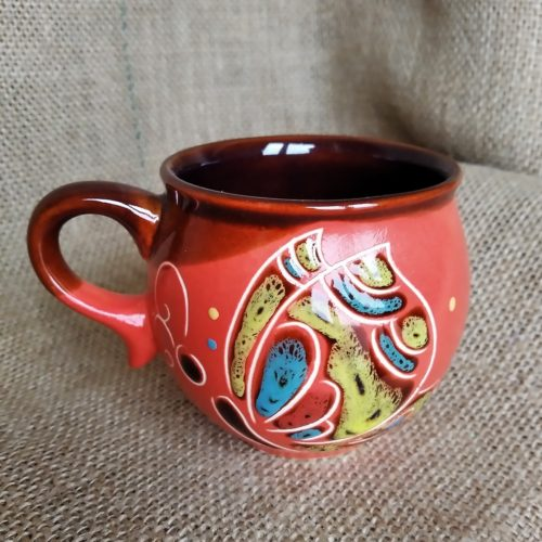Чашка кофейная керамическая «Бабочка» красная