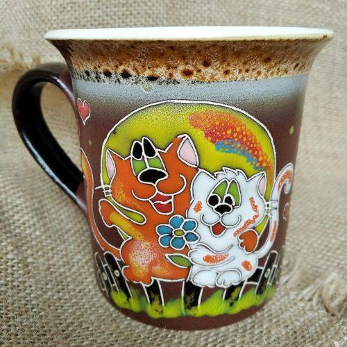 Чашка керамическая чайная «Любовь и котики»