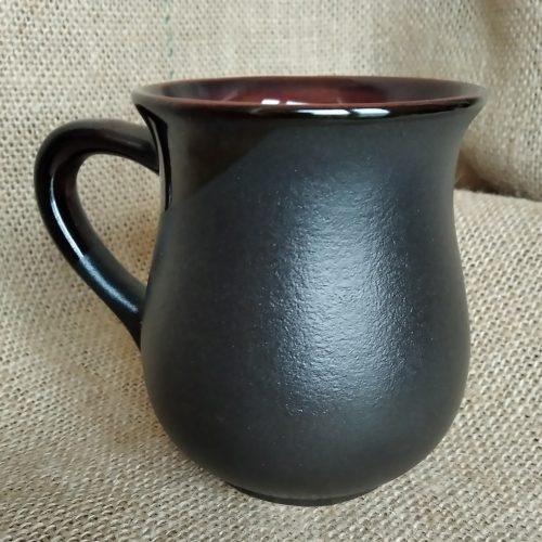 Чашка чайная керамическая чёрная