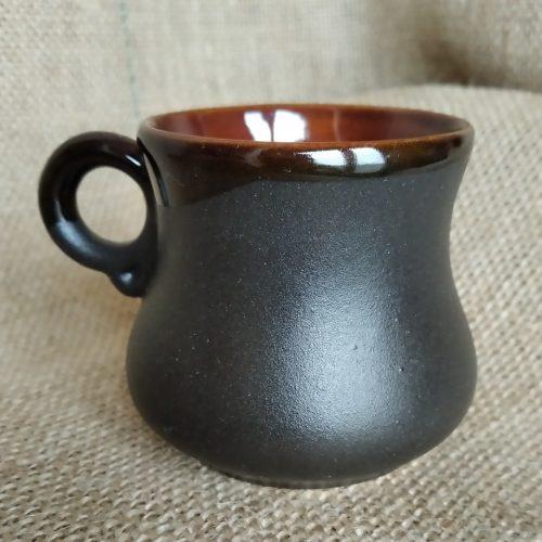 Чашка кофейная керамическая черная