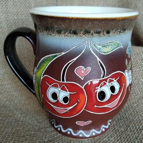 Чашка керамическая чайная «Вишенки»