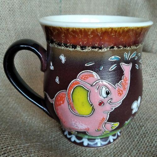 """Чашка керамическая чайная """"Розовый слоник"""""""
