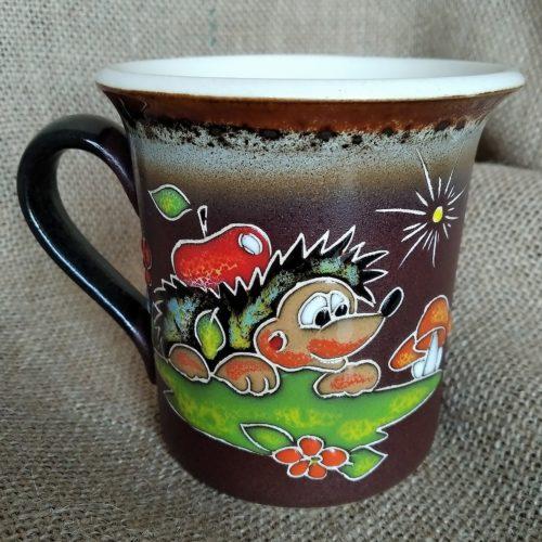 Чашка керамическая чайная «Ёжик»