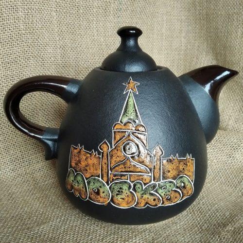Чайник керамический заварной «Москва» чёрный