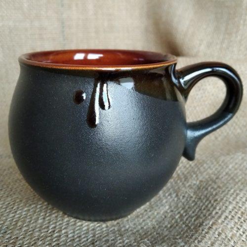 Чашка кофейная керамическая чёрная