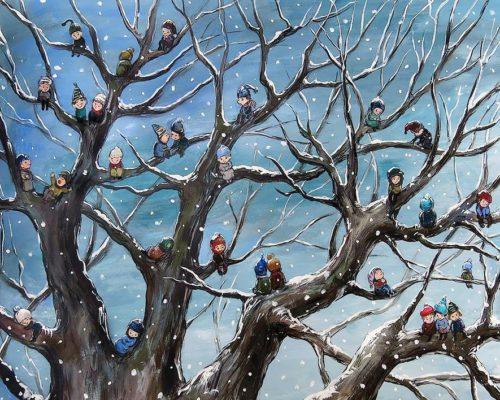 Чакветадзе Нино. Дети на дереве. 1