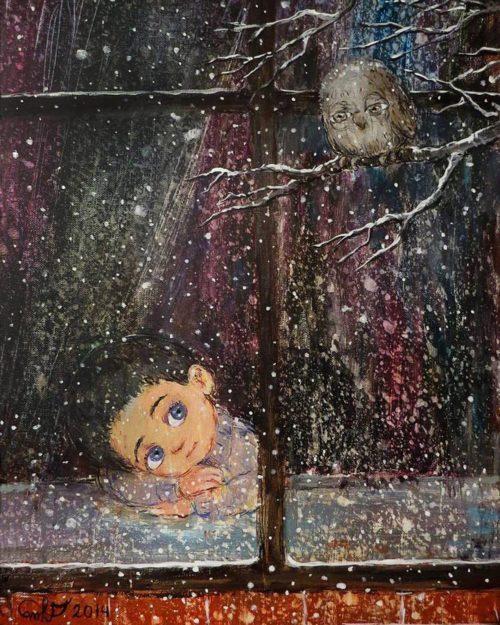 Чакветадзе Нино. Зимний вечер. 1